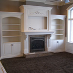 Bookcases and Fireplace: Just Built