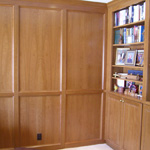 Bookcases and Wall Panels with Hidden Door