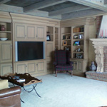 Entertainment Center and Bookcases